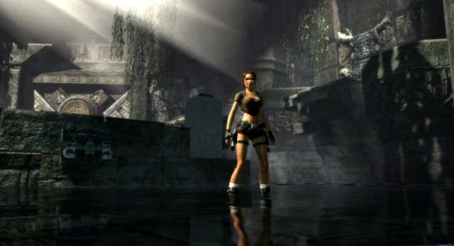 """""""Hey Lara, watchu doing?"""" """"Oh, nothing. Just standing strategically in the light, looking awesome."""""""