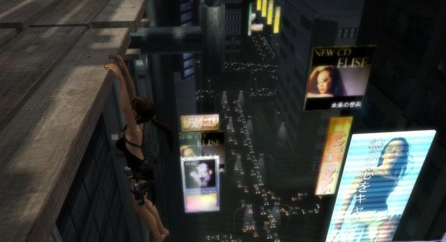 Lara Croft *hanging* uptown.